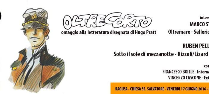 locandina dell'evento OltreCorto, omaggio a Hugo Pratt che si tiene a Ragusa