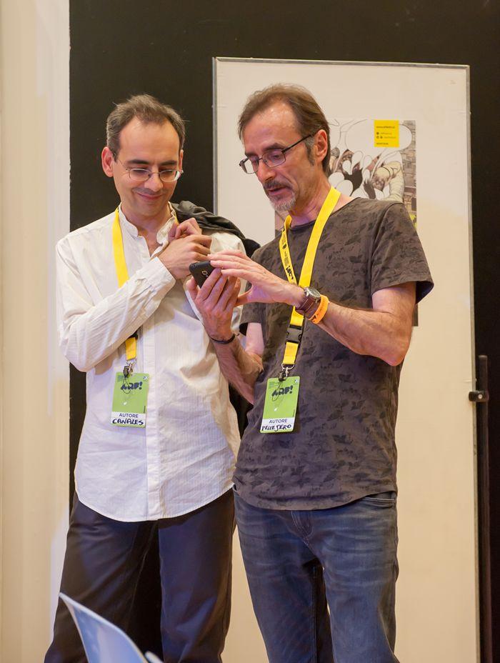 Hugo Pratt, Incontri e passaggi al Macro di Roma 2016 - J. D. Canales e R. Pellejero