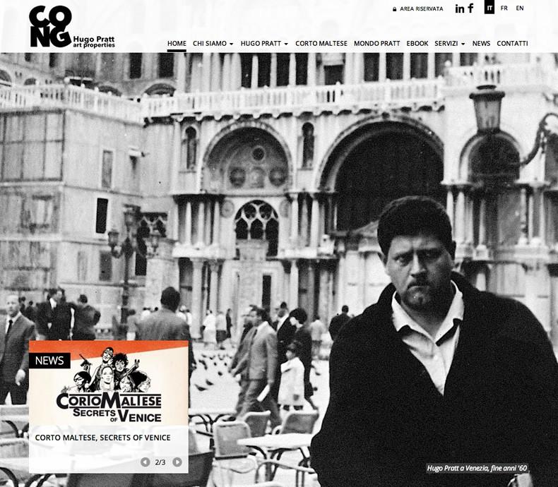 Nasce il sito di Cong - Hugo Pratt art properties